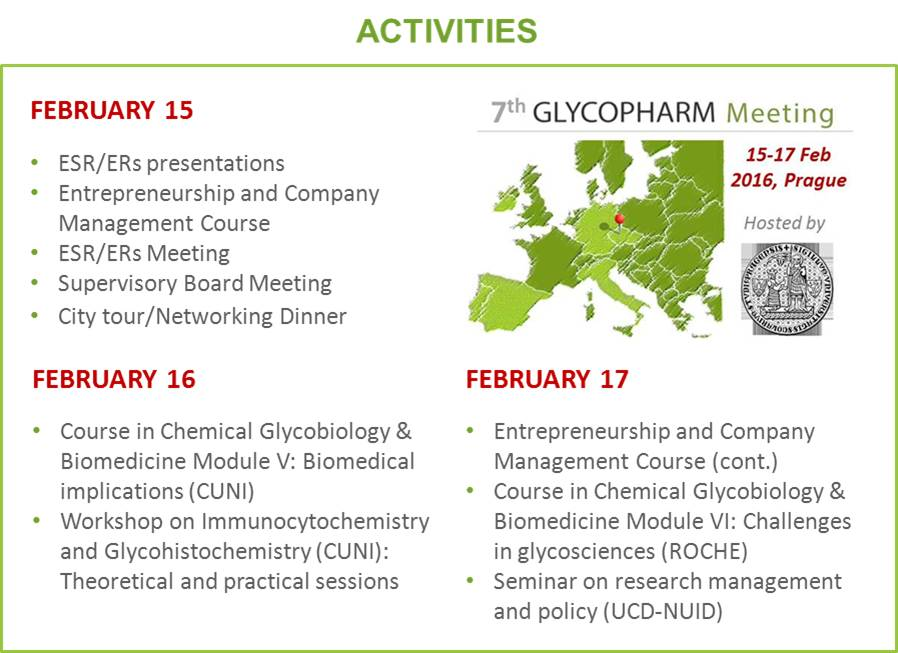 Agenda 7th GLYCOPHARM Meeting